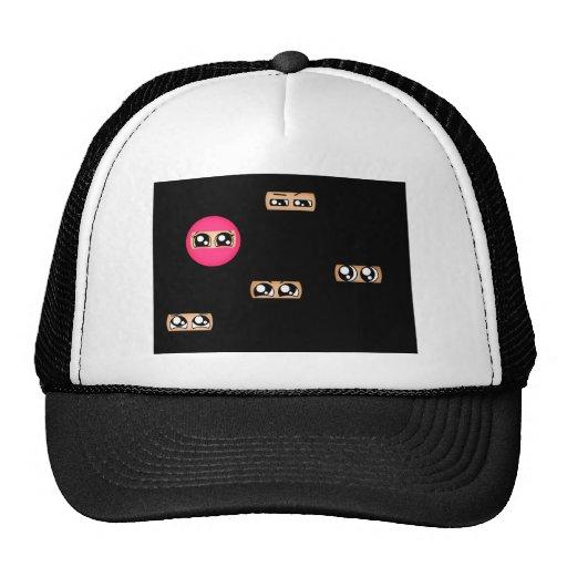 Pink ninja hats