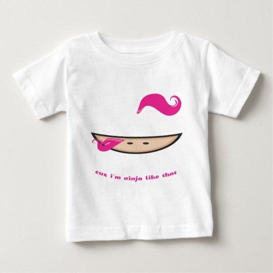 Pink Ninja in the Dark Baby T-Shirt