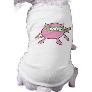 pink ninja monster dog tee