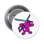 Pink Ninja OverHead-No Words Pins