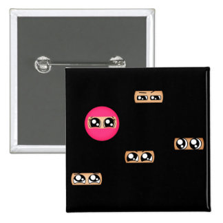 Pink ninja pinback button