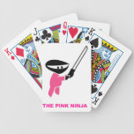 Pink Ninja with Sword Bicycle Playing Cards