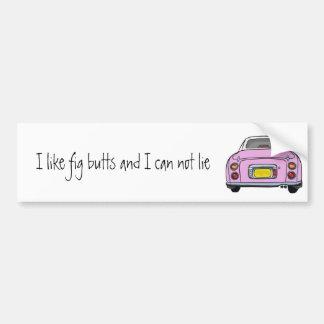 Pink Nissan Figaro Bumper Sticker