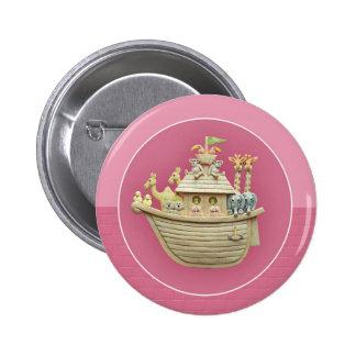 Pink Noah's Ark 2 Inch Round Button