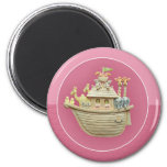 Pink Noah's Ark Fridge Magnets