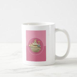 Pink Noah's Ark Classic White Coffee Mug