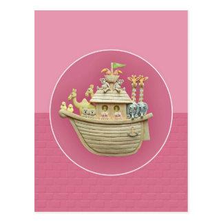 Pink Noah's Ark Postcard