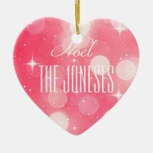 Pink Noel Ornament
