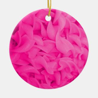 Pink Noodles Ceramic Ornament