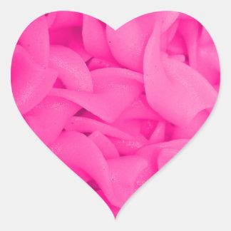 Pink Noodles Heart Sticker