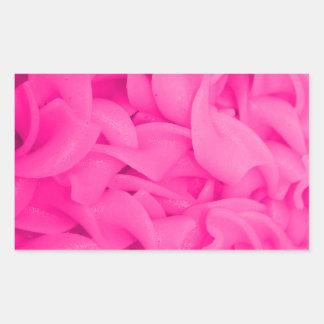 Pink Noodles Rectangular Sticker