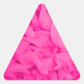 Pink Noodles Triangle Sticker