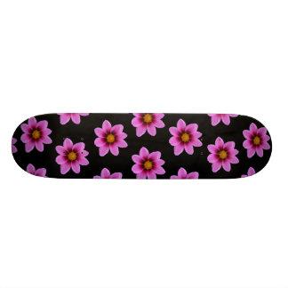 Pink Northwest Cosmos Flower Custom Skateboard