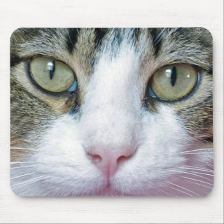Pink Nose Cat Face Mouse Pad