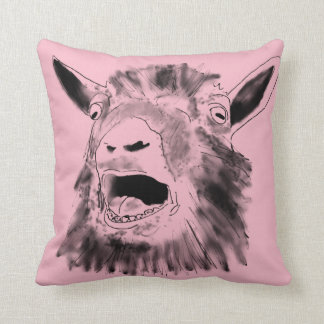 Pink Novelty Surprised Screaming Goat Cushion