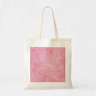 Pink Nubby Chenille Fabric Texture Canvas Bag