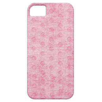 Pink Nubby Chenille Fabric Texture iPhone SE/5/5s Case