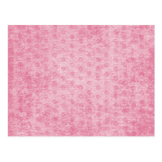Pink Nubby Chenille Fabric Texture Postcard