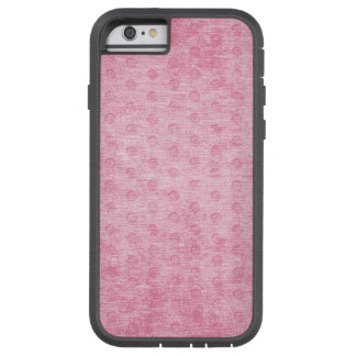 Pink Nubby Chenille Fabric Texture Tough Xtreme iPhone 6 Case