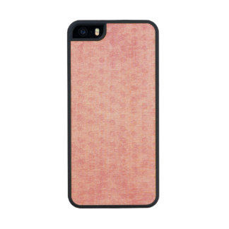 Pink Nubby Chenille Fabric Texture Wood iPhone SE/5/5s Case