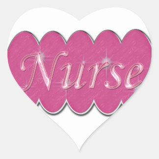 Pink Nurse Heart Sticker
