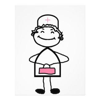 pink nurse letterhead design