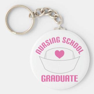 Pink Nursing School Graduate Gift Basic Round Button Keychain