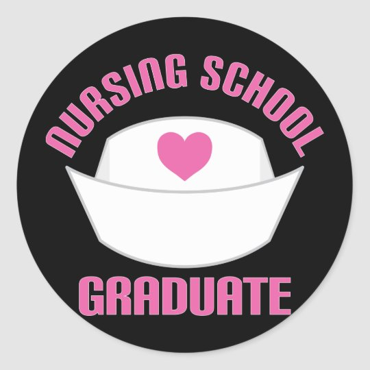 Pink Nursing School Graduate Gift Classic Round Sticker