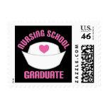 Pink Nursing School Graduate Gift Postage Stamp