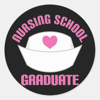 Pink Nursing School Graduate Gift Sticker