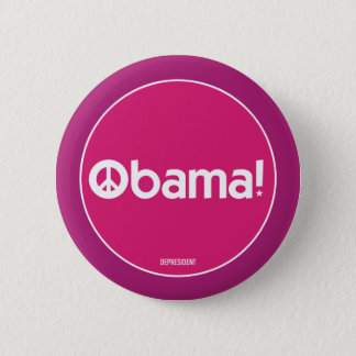 Pink Obama for Peace Button