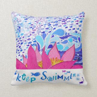 Pink Ocean Pillows 16x16 Home Throw Nautical Decor