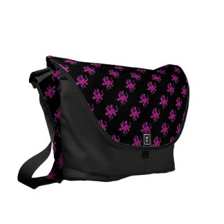 Pink Octopi Messenger Bag