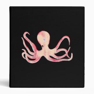 Pink Octopus 3 Ring Binder