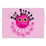 Pink Octopus Big Sister T-shirts and Gifts Greeting Cards