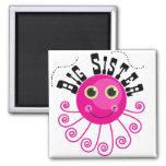 Pink Octopus Big Sister T-shirts and Gifts Refrigerator Magnet