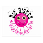 Pink Octopus Big Sister T-shirts and Gifts Post Cards