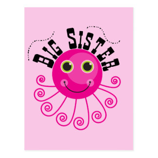 Pink Octopus Big Sister T-shirts and Gifts Postcard