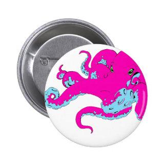 Pink Octopus 2 Inch Round Button