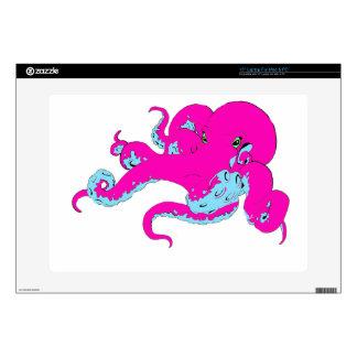 Pink Octopus Laptop Skin