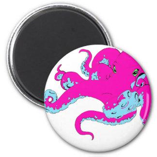 Pink Octopus Refrigerator Magnet