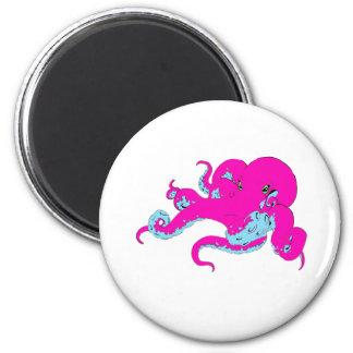 Pink Octopus Fridge Magnet