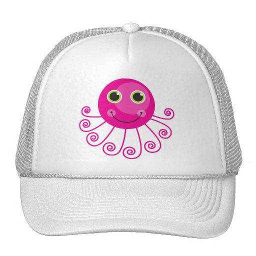 Pink Octopus Trucker Hat