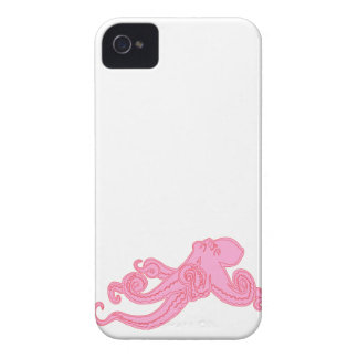 Pink octopus vintage cute nautical science kraken Case-Mate iPhone 4 case