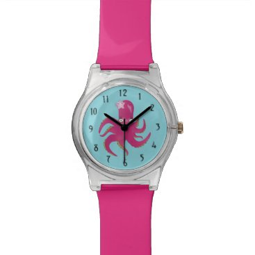 Beach Themed Pink octopus watch