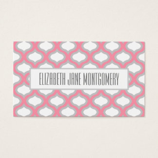 Pink Ogee Modern Appointment Business Card
