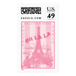 Pink Oh la la Postage Stamp 2