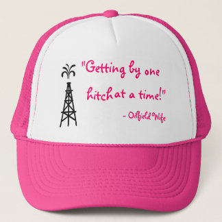 Pink oilfield wife hat