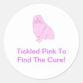 Pink Old English Sheepdog Classic Round Sticker