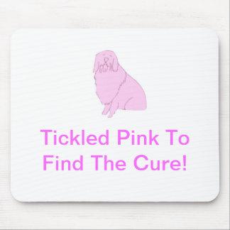 Pink Old English Sheepdog Mouse Pad
